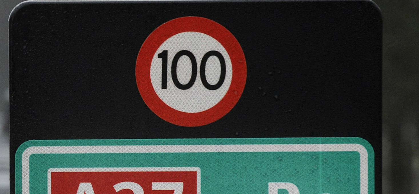 Maximum snelheid 100 km/u